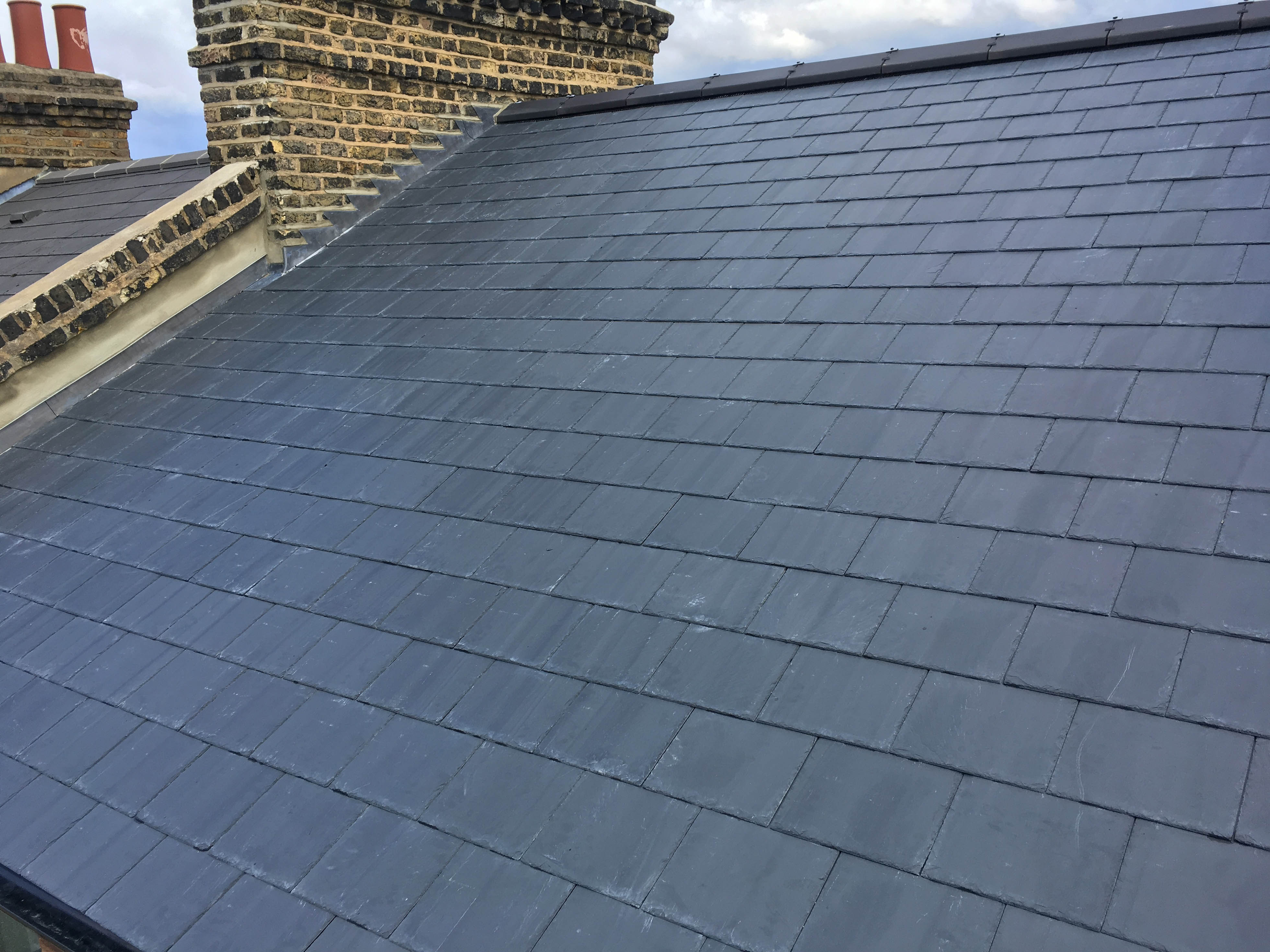 new roof in natural slate